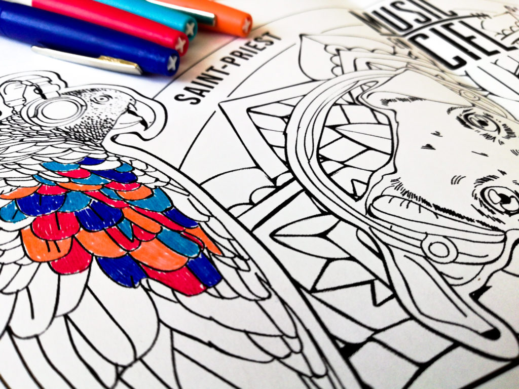 Coloriage Music en Ciel